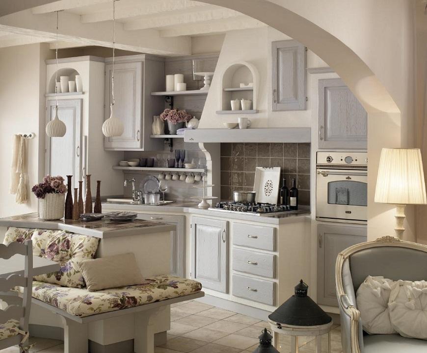 Cucine in muratura classiche, rustiche e country